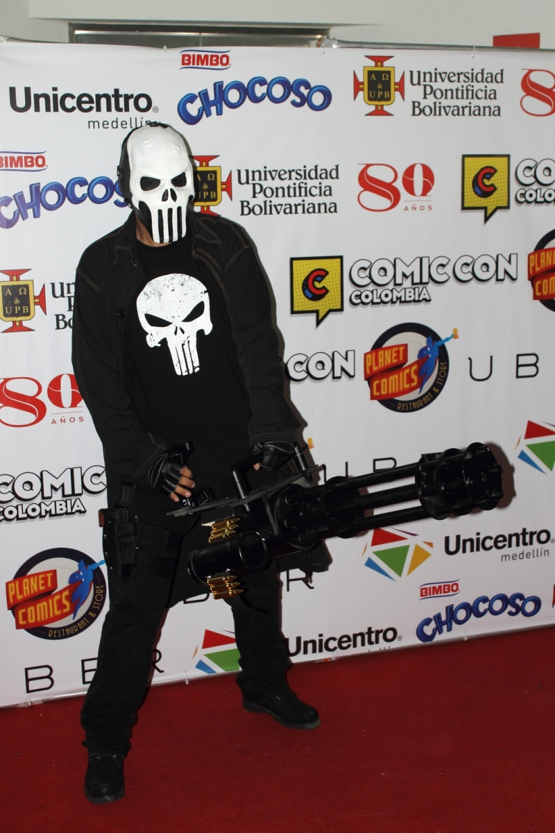 Comic Con Medellín - The Punisher Cosplayer - Cómic Con Colombia - Medellín