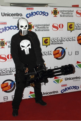 The Punisher Cosplayer - Cómic Con Colombia - Medellín