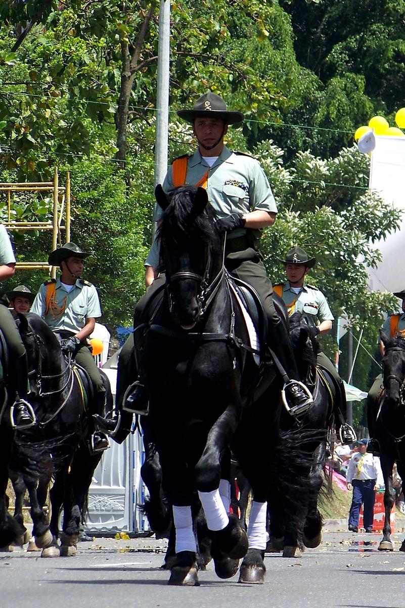 Feria de las Flores Medellín - Carabineros - Desfile a Caballo