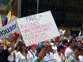 Farc asesinos - Marcha - Agosto 7 de 2015