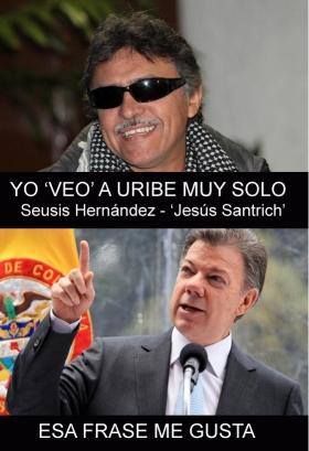 Álvaro Uribe Vélez está muy solo