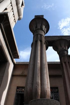 Palacio Egipcio - Columna entrada principal - Medellín