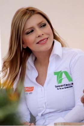 Presentadora Teleantioquia - Sandra Valencia