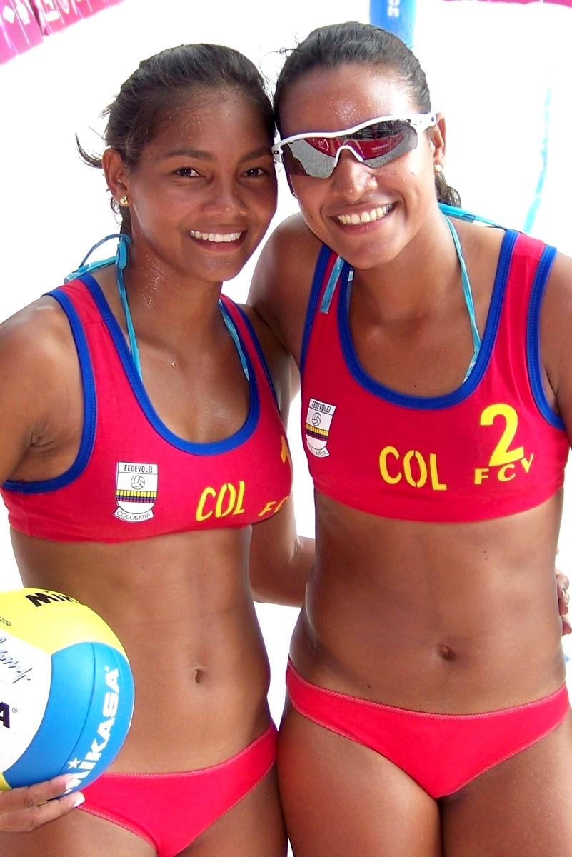 Personas - Voley Playa Colombia - Dalgis Villalobos y Kelly Medina - Medellín