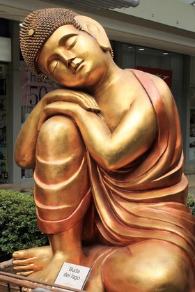 Medellín - Estatua - Buda del Lago